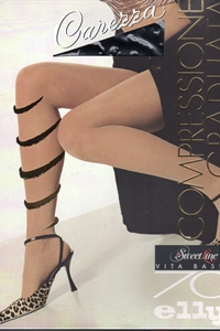 Carezza Sweet line pantyhose 70 den low-rise - Pantyhose 70 denier low-rise all nude with T-band and toe reinforced.)