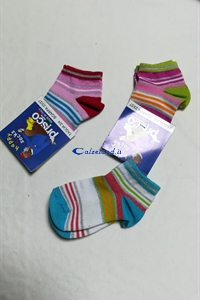 Socks Striped lurex - Cotton socks for girl with lurex)