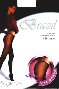 Brazil pantyhose - Low waist panty hose ultra sheer 15 den for woman.)