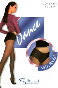 Dance 30 denier - Low waist tights 30 den with hi-cut panty reinforced.)