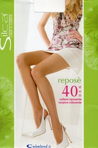 Reposè pantyhose - 40 den pantyhose with reinforced toes and panty)