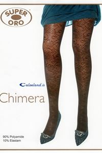 Chimera Tights - 20 denier soft pantyhose with lace work adheres perfectly to the leg.)