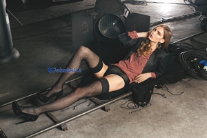 Frame hold-ups - Perforated cotton hold-ups)