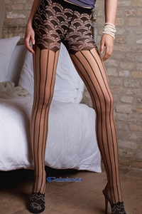 Cyprus tights - 40 deniers pantyhose with embroidered pants)