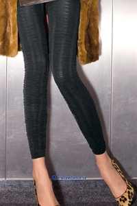 New York Leggings - Leggings en microfibre pleated effect by Trasparenze.)