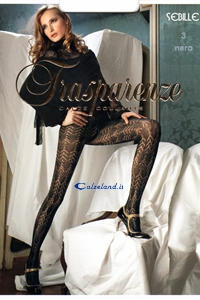 Sebille pantyhose 60 den - Perforated microfibre tights 60 denier by Trasparenze.)