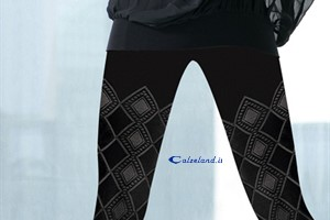Caracas pantyhose - Pantyhose 60 denier with diamond pattern designed and solid.)