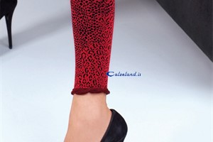 Madras leggings 80 denier - Leopard leggings in microfiber)