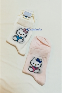 Calzino Hello Kitty - Calzino in cotone per bambina con Hello kitty)
