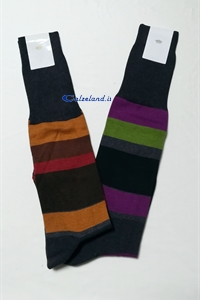 Knee-high Man Striped - Knee-high men's light cotton very colorful lines)